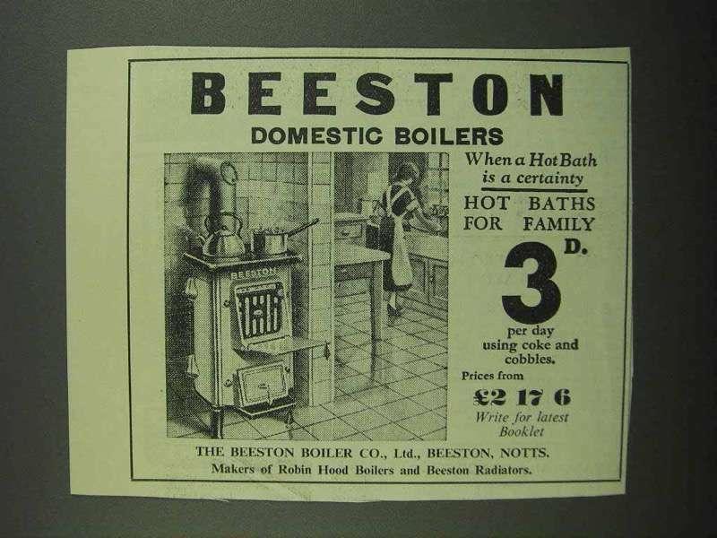 1939 Beeston Domestic Boilers Ad