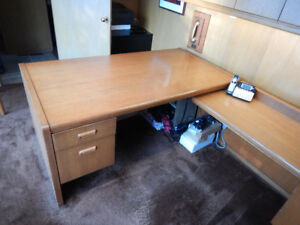 EXECUTIVE DESK with side secretary