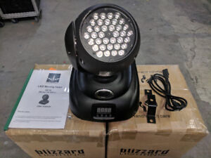 NEW* Blizzard Northstar 36x3w Led Wash Moving Light
