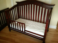 Crib & Dresser - with toddler bed & double bed conversions