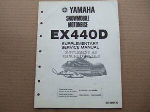 1980 YAMAHA EX 440 SNOWMOBILE SERVICE MANUAL