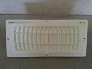 White floor register vent
