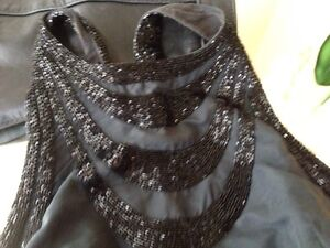 French Connection Silk Beaded top size 8