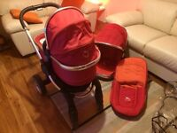 ICANDY Peach Pram in Tomato Red