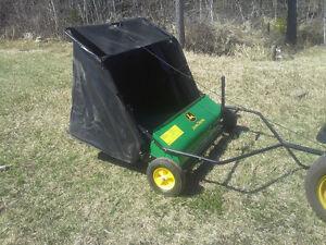john deere lawn sweaper