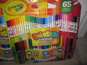 """Crayola """"Colossal Colour"""" Washable Markers, 65 Markers, BNIP"""