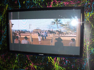 Samsung 3-D TV -Has couple lines on left side;