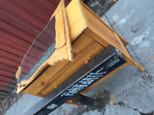 Curb Alert: beautiful old dresser with mirror