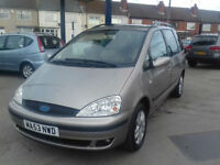 2003 Ford Galaxy 1.9TD ( 115ps ) auto Ghia diesel,109,000 MILESS,GOOD HISTORY