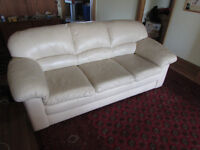 2 Piece White leather Couches