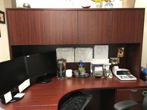 Mahogany Classic Desk Hutch