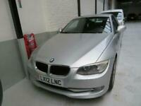 LHD BMW 320 Diesel Auto Coupe, A/C, 1 Owner Full BMW S/H, Silver w/Black Leather