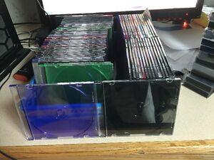 220 Slim Jewel Cases for CD/DVD