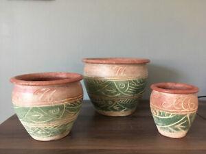 Plant Pots (x3)