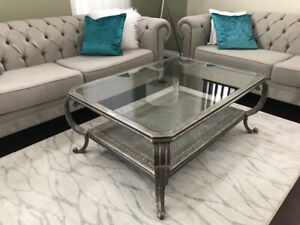 Glass & Metal Coffee Table in GREAT Condition!