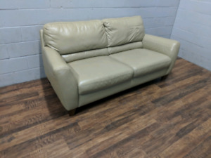 (Free Delivery) - Natuzzi leather loveseat sofa