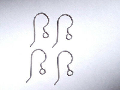 NEW - 200 Pieces - 100 Pair Titanium French Hook Ear Wires 21 gauge for sale  Shipping to India