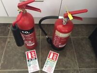 2 fire extinguishers 1 used £50 for both