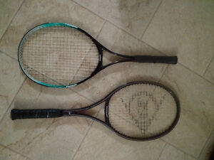Two tennis rackets Dunlop McEnroe Comp II and Cooper 100% Alum