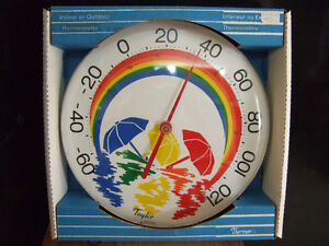indoor or outdoor colourful thermometer