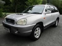 03/03 HYUNDAI SANTA FE 2.0D AUTO IN MET SILVER (P/X TO CLEAR / NEW MOT)
