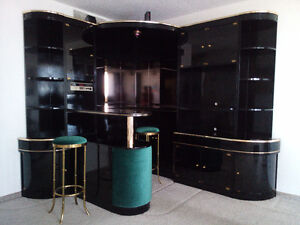 Bar, storage cabinet, wall unit, book case with shelves