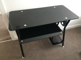 Levy Glass Workstation - Black