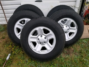 Goodyear wrangler ST tires and rims