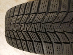 195/65 R15 Continental Wintercontact SI snow tires on steel rims