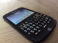 Blackberry curve on o2