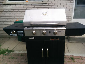 Centro Stainless BBQ With Side Burner