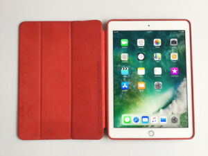 iPad Air 2 ~ 16GB Wi-Fi ~ Leather (RED) SmartCase ~ Apple-tested