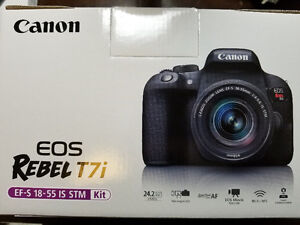 Canon Rebel T7i with 18-55mm Kit, like new in box