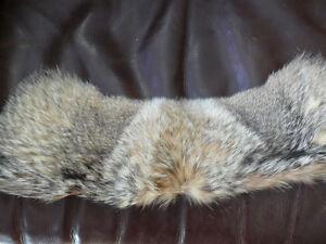 Real fur collar. New