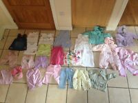 Bundle of baby girl clothes age 6-9 months