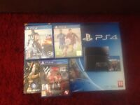 PS4 and 3 games