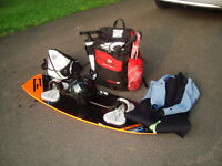 Complete Cabrinha kiteboarding package