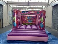 12x12FT PINK PARTY TIME INFLATABLE BOUNCY CASTLE FOR SALE