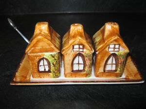 Price Kensington Cottage Ware Condiment Set With Underplate 1940