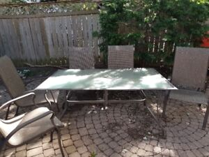Free - Patio table and chairs