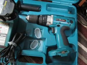 ensemble drill MAKITA marteau 18 volts