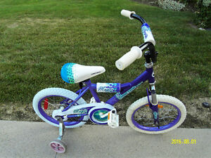 "Girl 16"" bike new tires  back  training wheels"