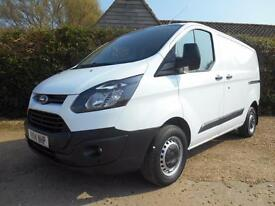 2014 14 FORD TRANSIT CUSTOM 2.2TDCI 100BHP 6SPEED ECONETIC 270 L1H1 1 OWNER FSH