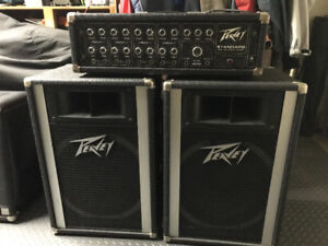 Peavey 115H speakers and standard Peavey Mixer-amp