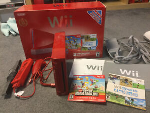 Nintendo Wii system with accessories