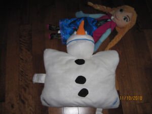 Frozen pillow and singing doll