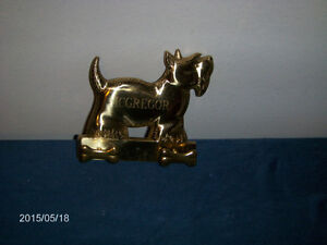 MCGREGOR SCOTCH TERRIER KEYCHAIN HOLDER-BRASS WALL HANGER