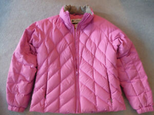 Columbia Winter Down-filled Jacket, Women's, Pink, M 8-10, NEW