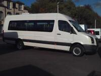 VW CRAFTER CR50 17 SEAT FRONT ENTRY MINIBUS COIF DIGITAL TACHO PSV AIR CON