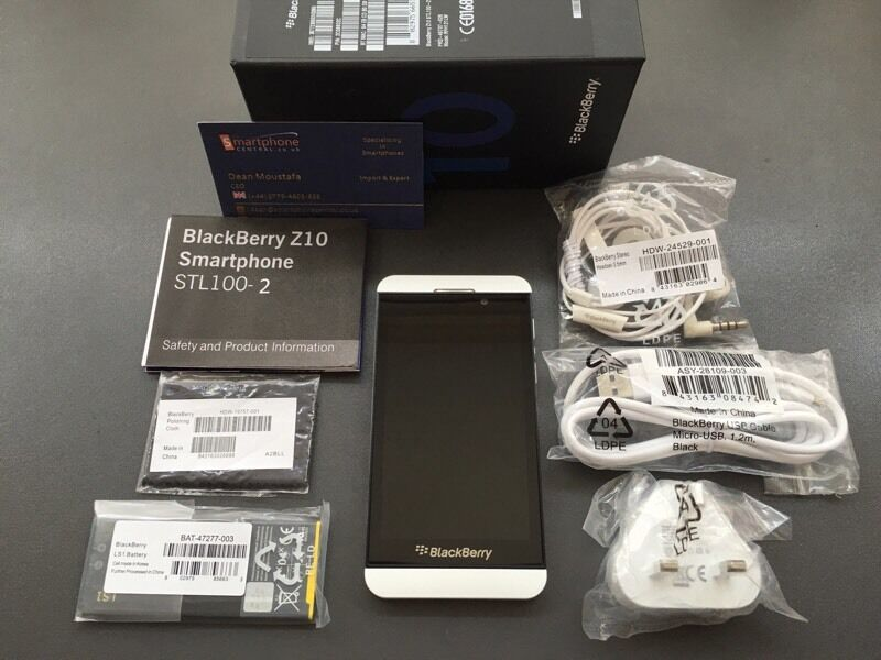 Brand new unlocked sim free Blackberry Z10 sealed box with full new accessories uk stock